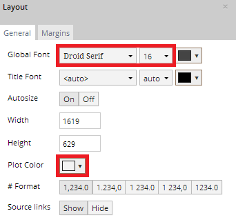 Layout popover general options