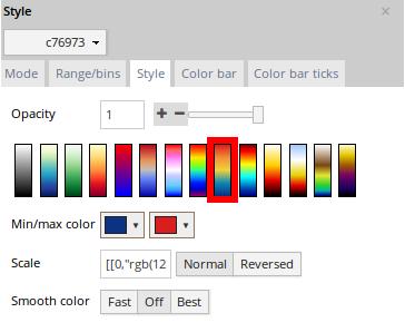 Gradient colors